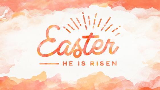 He is Risen (Orange)