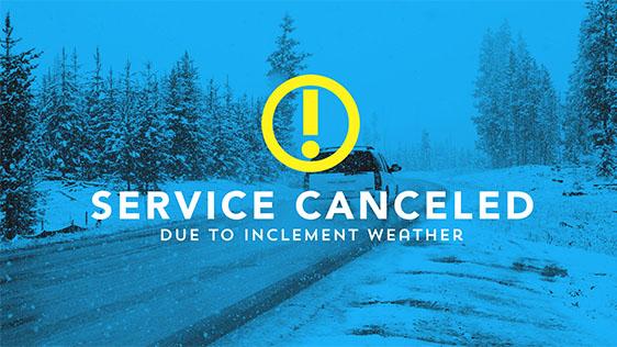 Service Canceled – Snow