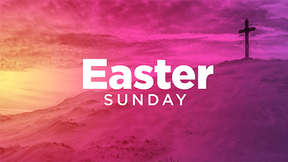 Easter Sunday – Cross Pink