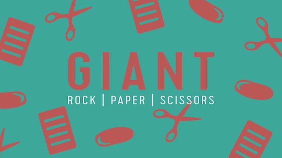 Giant Rock, Paper, Scissors – Game