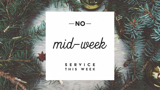 No Mid-Week Service (Winter)