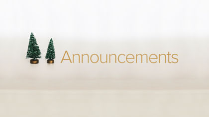 Christmas Announcements Slide