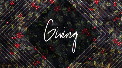Christmas Giving Slide