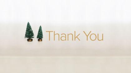 Christmas Thank You Slide