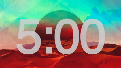 Abstract Desertscape Countdown Video