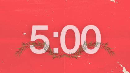 Christmas Garland Countdown Video
