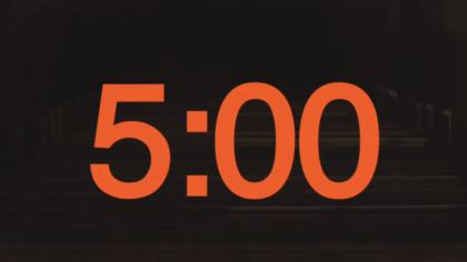 Church Pews Countdown Video