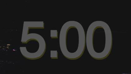 Dark Backdrop Countdown Video