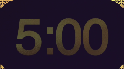 Gold Ornament Countdown Video