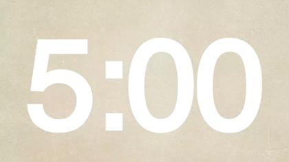 Neutral Canvas Countdown Video