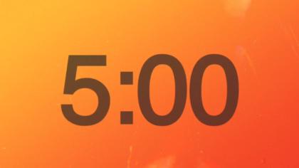 Orange Hues Countdown Video