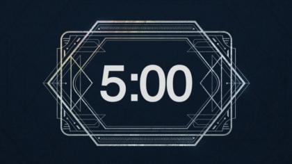 Retro Lines Countdown Video