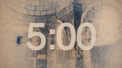 Sepia Brick Countdown Video