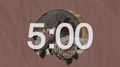 Vintage Floral Countdown Video