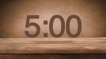 Wood Tabletop Countdown Video