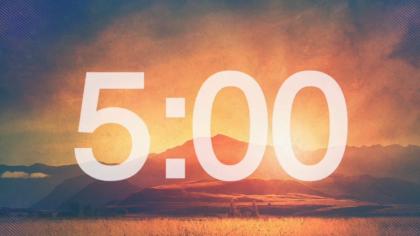 Colorized Landscape Countdown Video