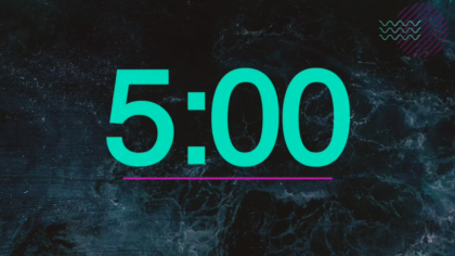 Teal Text Countdown Video
