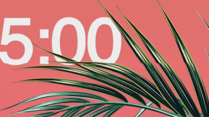 Easter Palm Leaves Countdown Video