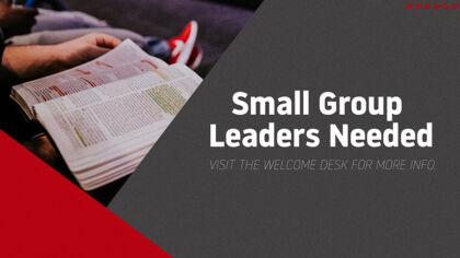Small Group Leaders Needed