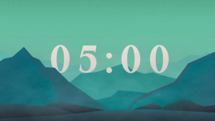 Animated Mountains Countdown Video