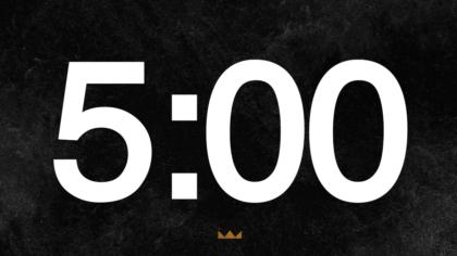 Black Background Countdown Video
