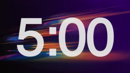 Color Streak Countdown Video