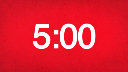 Red Background Countdown Video