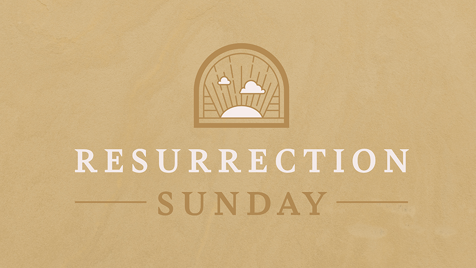 Resurrection Sunday Easter Sermon Graphic
