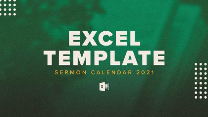 2021 Sermon Excel Template
