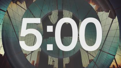 Abstract Bridge Countdown Video