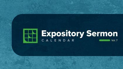 2021 Expository Sermon Calendar
