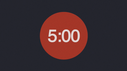 Red & Navy Background Countdown Video