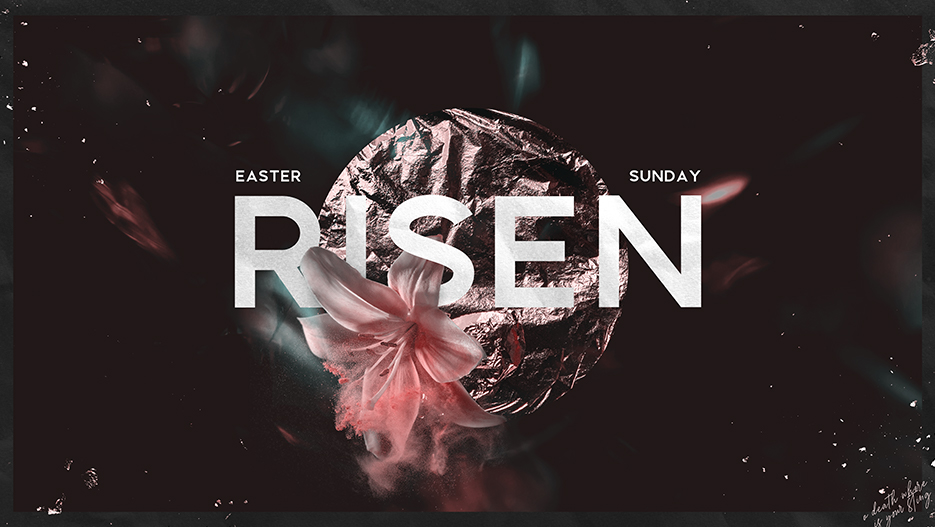 Risen Easter Sunday Sermon Graphic