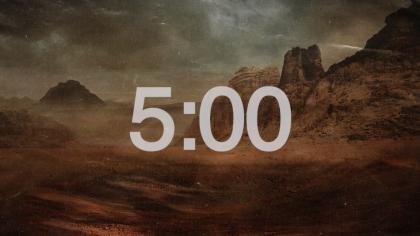 Desertscape Countdown Video