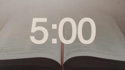 Open Bible Countdown Video