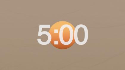 Tan Background Countdown Video