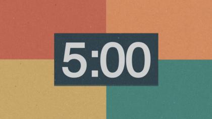 Color Blocks Countdown Video