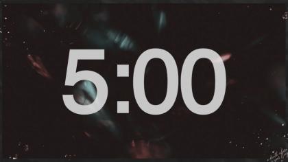 Dark Background Countdown Video