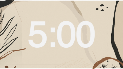 Neutral Background Countdown Video