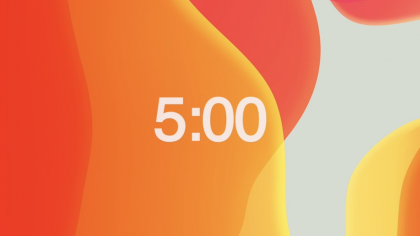 Modern Orange Countdown Video
