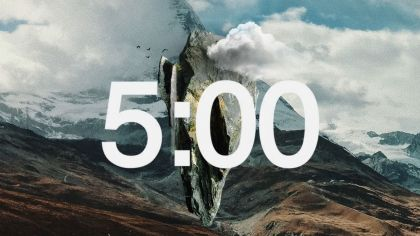 Abstract Mountain Countdown Video