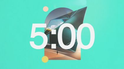 Bright Abstract Countdown Video