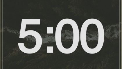 Forest Background Countdown Video
