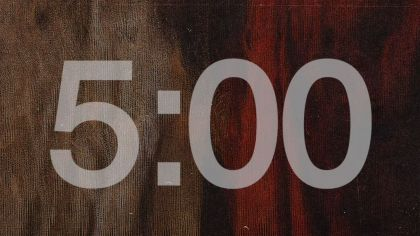 Textured Red Background Countdown Video