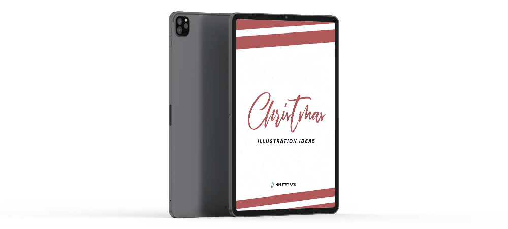 Christmas Illustration Ideas Mockup iPad